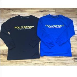 Boys Ralph Lauren performance shirts lot if 2 sz S